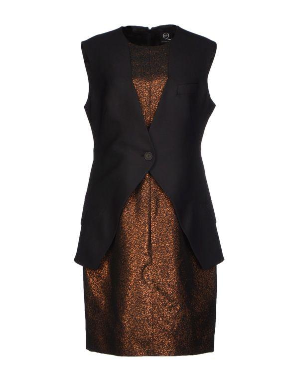 黑色 MCQ ALEXANDER MCQUEEN 短款连衣裙