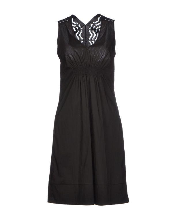 黑色 PF PAOLA FRANI 及膝连衣裙