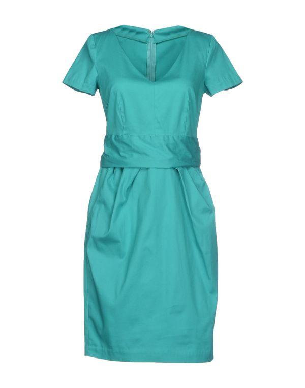 绿色 PF PAOLA FRANI 短款连衣裙