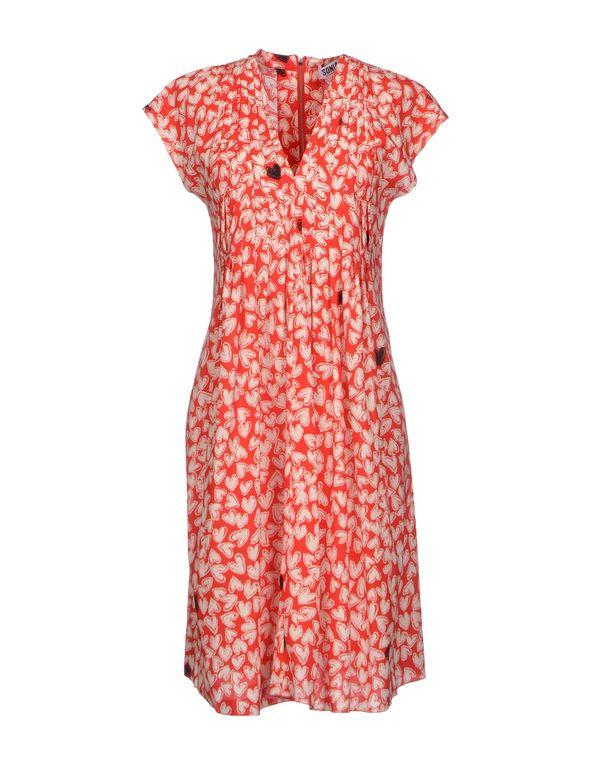 红色 SONIA BY SONIA RYKIEL 及膝连衣裙