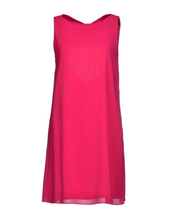 玫红色 ALICE+OLIVIA 短款连衣裙