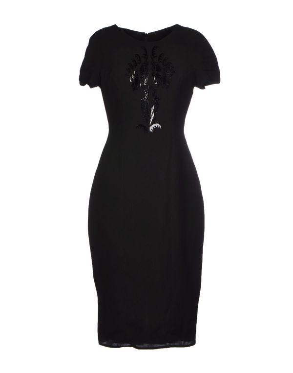 黑色 IRIS VAN HERPEN 及膝连衣裙