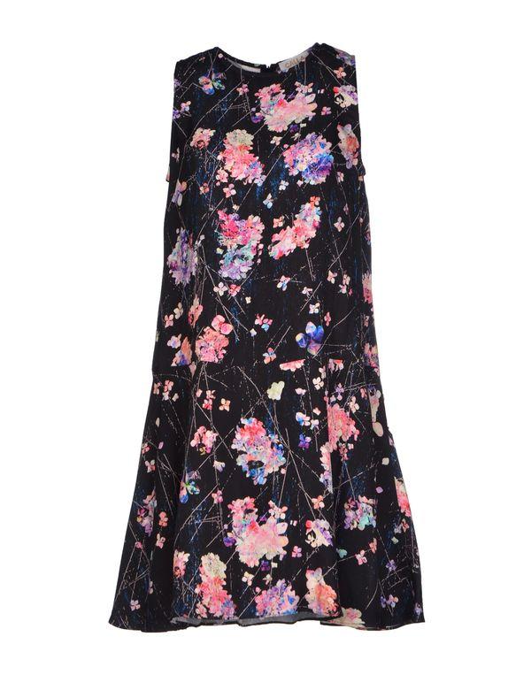黑色 CALLA 短款连衣裙