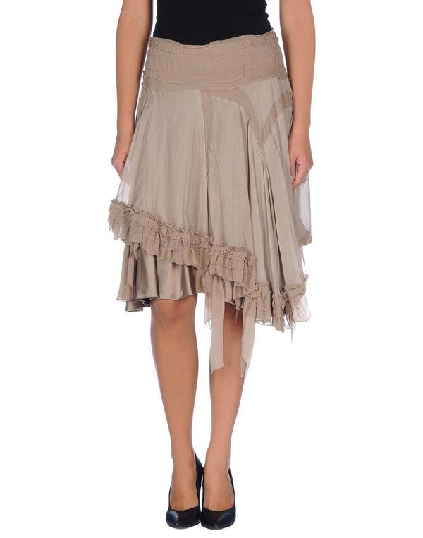 鸽灰色 ANNARITA N. 及膝半裙