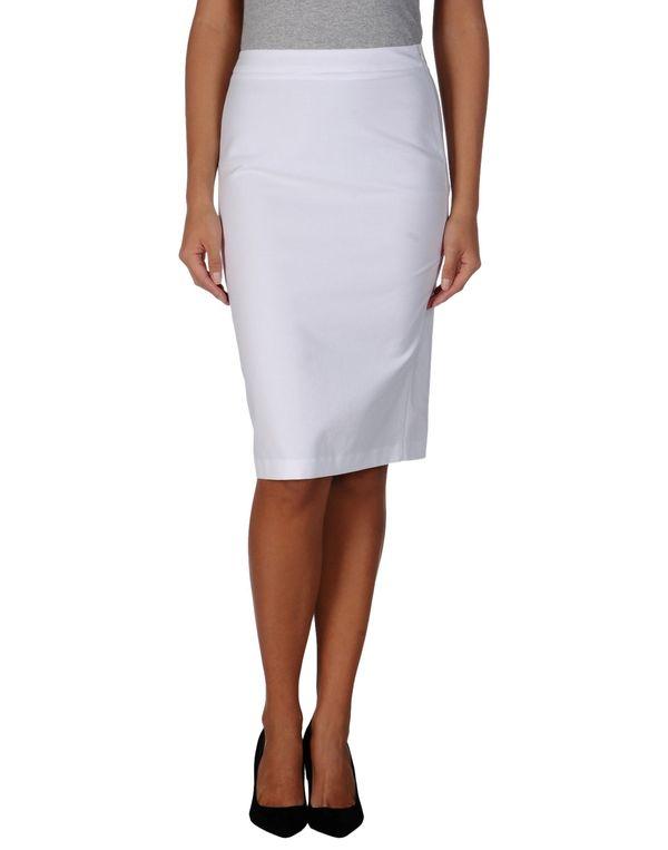 白色 LOVE MOSCHINO 及膝半裙