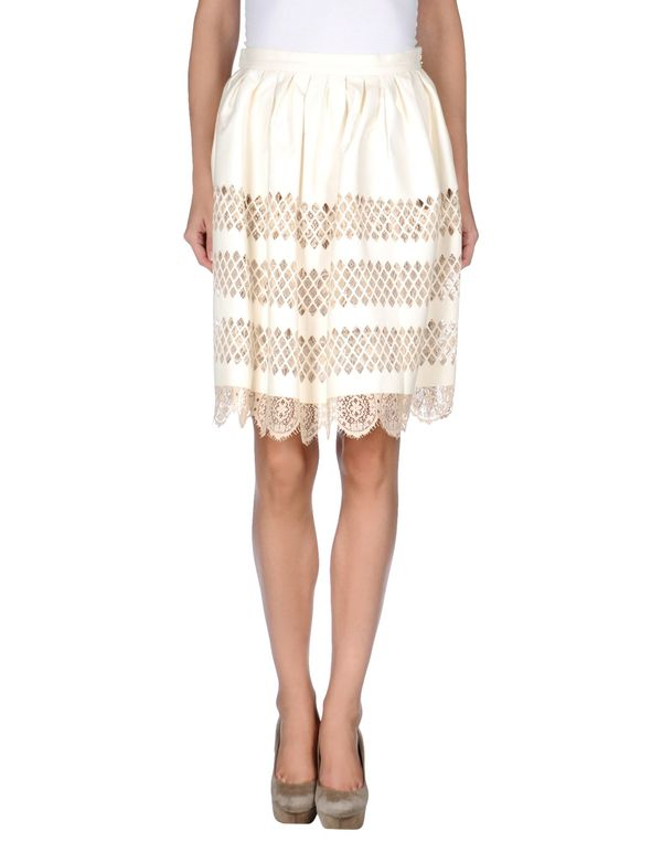 白色 JUST CAVALLI 及膝半裙