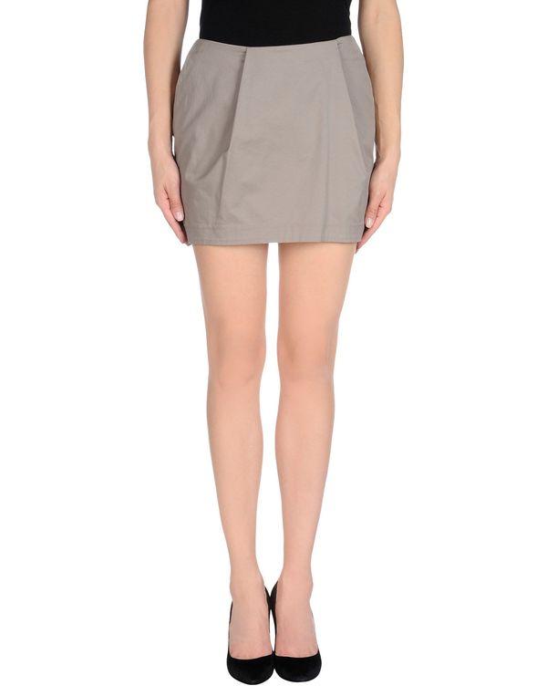灰色 GOLD CASE 超短裙