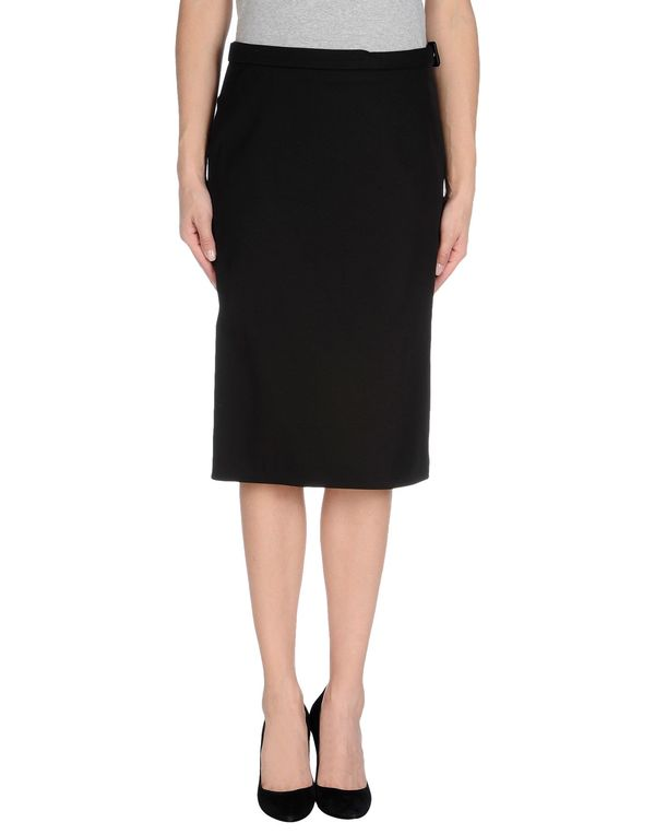 黑色 COSTUME NATIONAL 及膝半裙