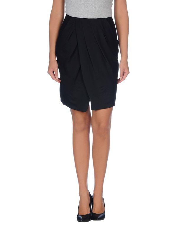 黑色 CK CALVIN KLEIN 及膝半裙
