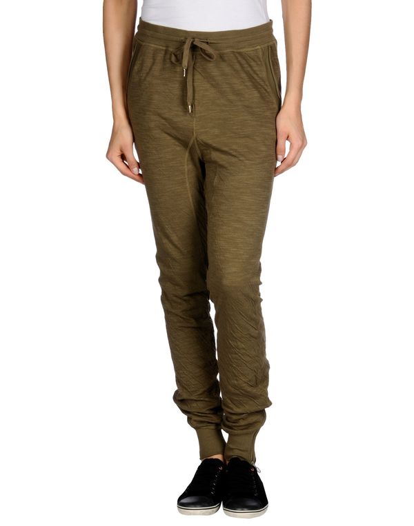 军绿色 TWIN-SET SIMONA BARBIERI 裤装