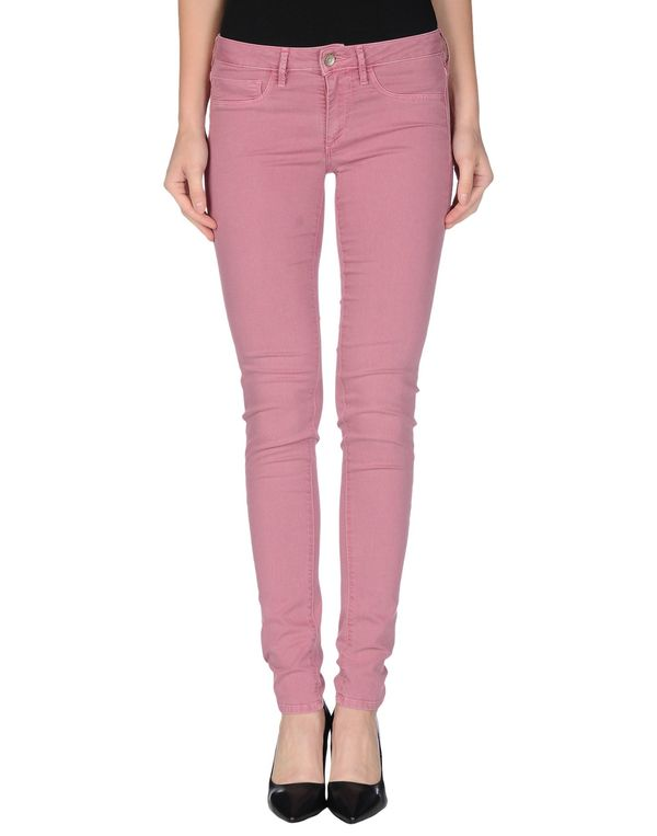 水粉红 FRED PERRY 牛仔裤