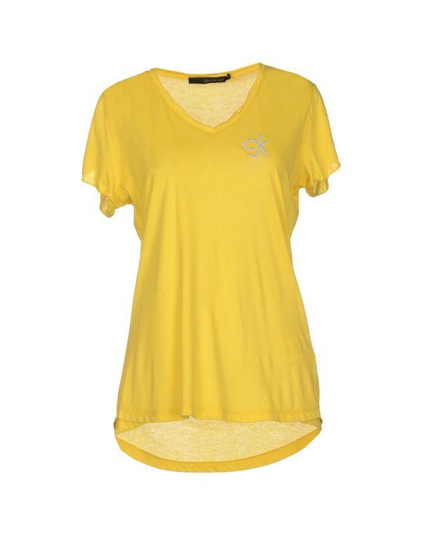 黄色 CALVIN KLEIN JEANS T-shirt