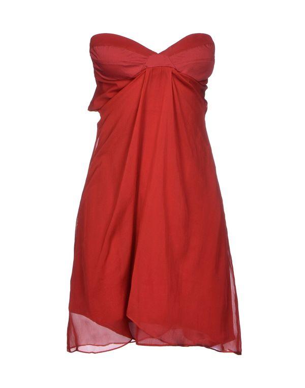 砖红 LIU •JO 短款连衣裙