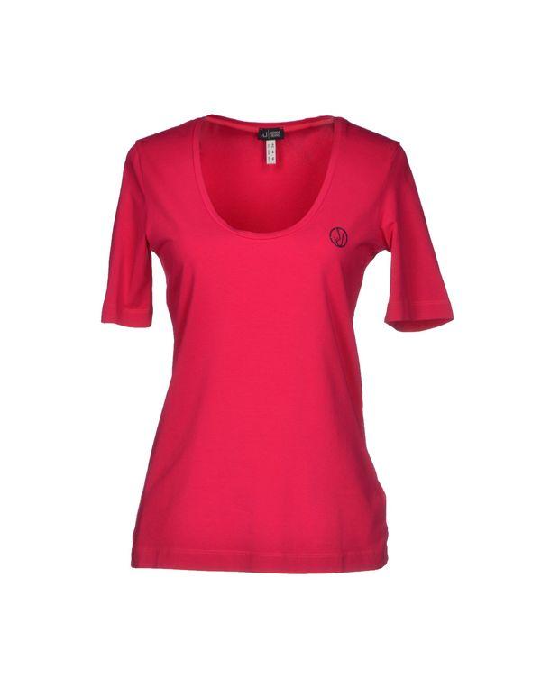 玫红色 ARMANI JEANS T-shirt