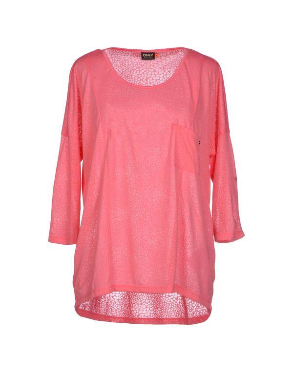 粉红色 ONLY T-shirt