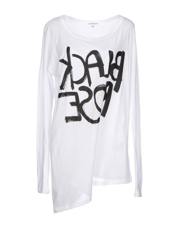 白色 ANN DEMEULEMEESTER T-shirt