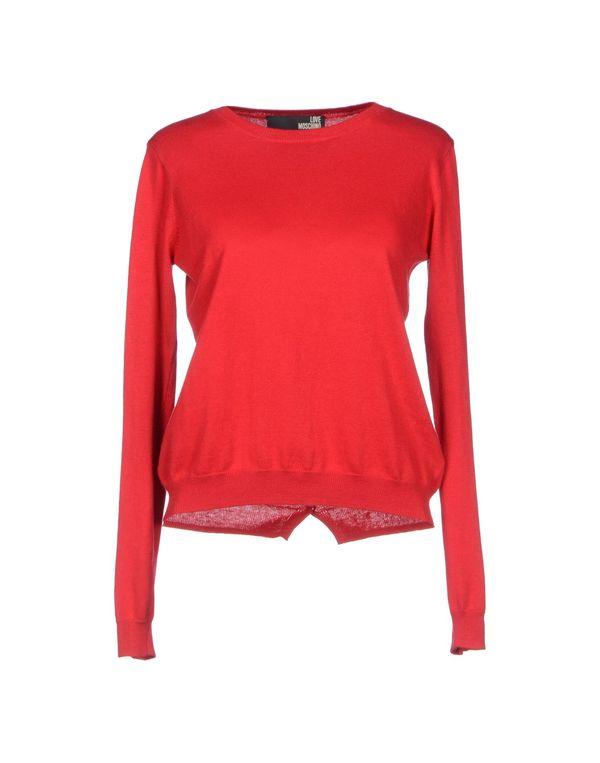 红色 LOVE MOSCHINO 套衫