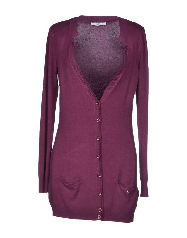 深紫色 LIU •JO JEANS 针织开衫