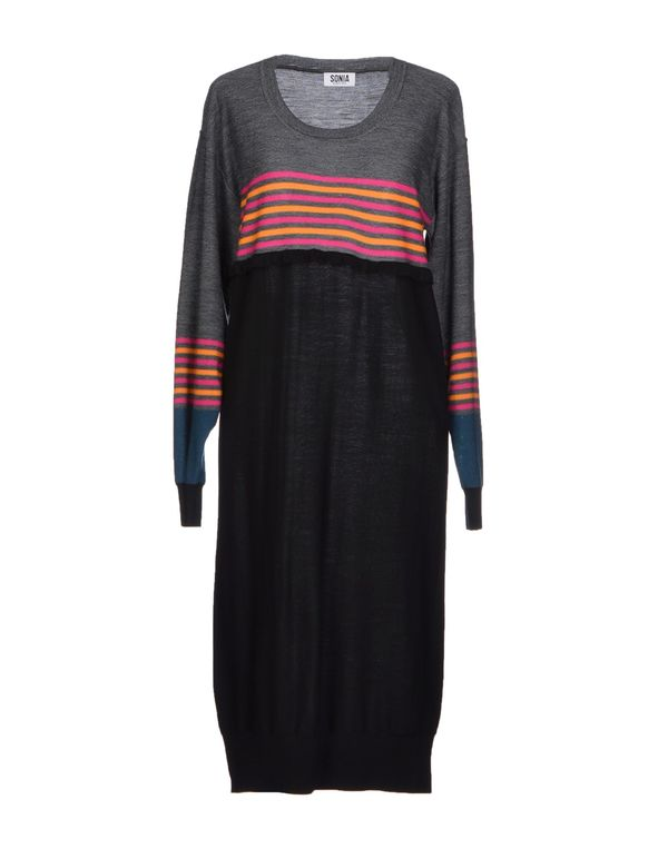 灰色 SONIA BY SONIA RYKIEL 中长款连衣裙