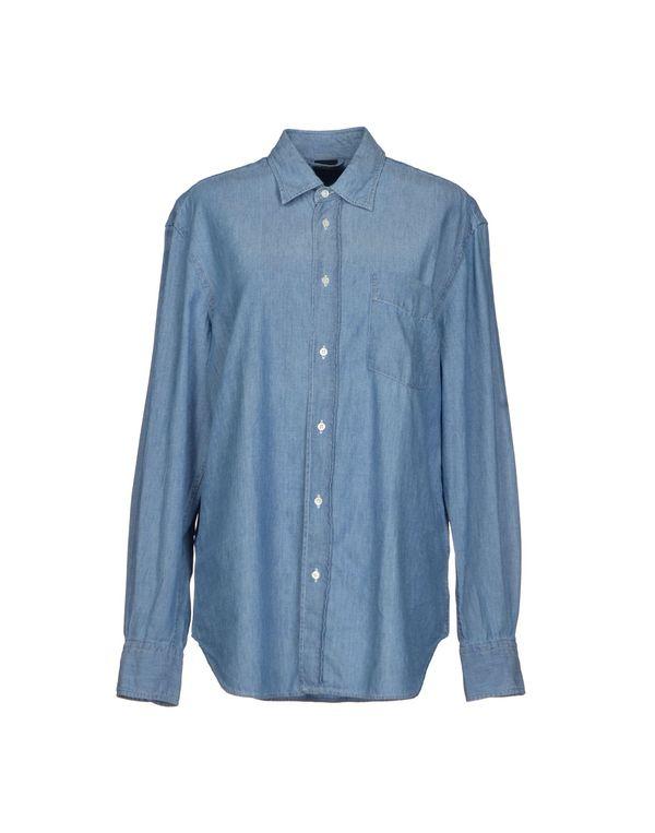 蓝色 ASPESI 牛仔衬衫