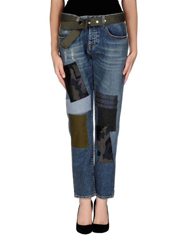 蓝色 PINKO BLACK 牛仔裤