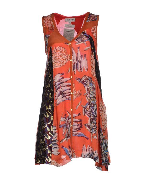 珊瑚红 HEIMSTONE 短款连衣裙