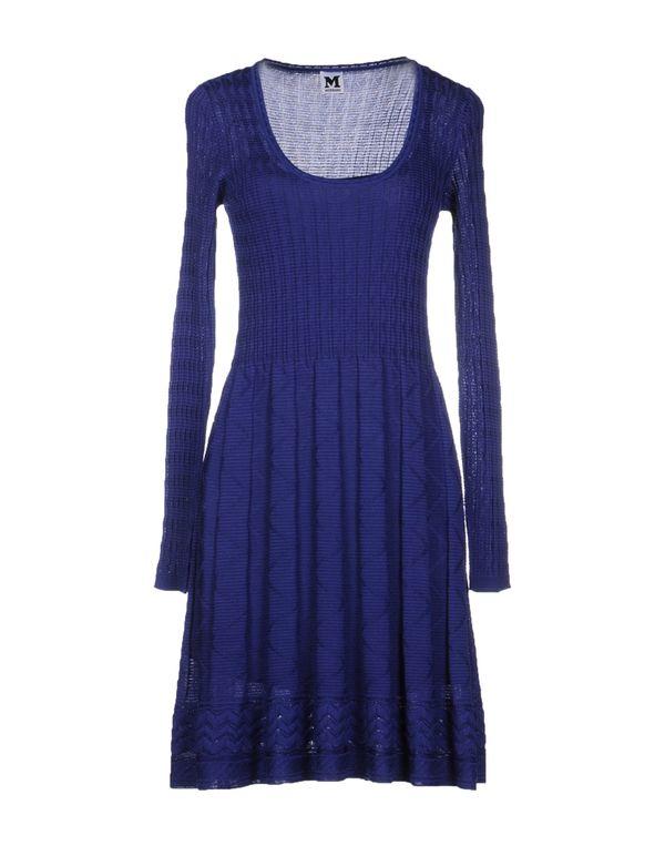 蓝色 M MISSONI 短款连衣裙