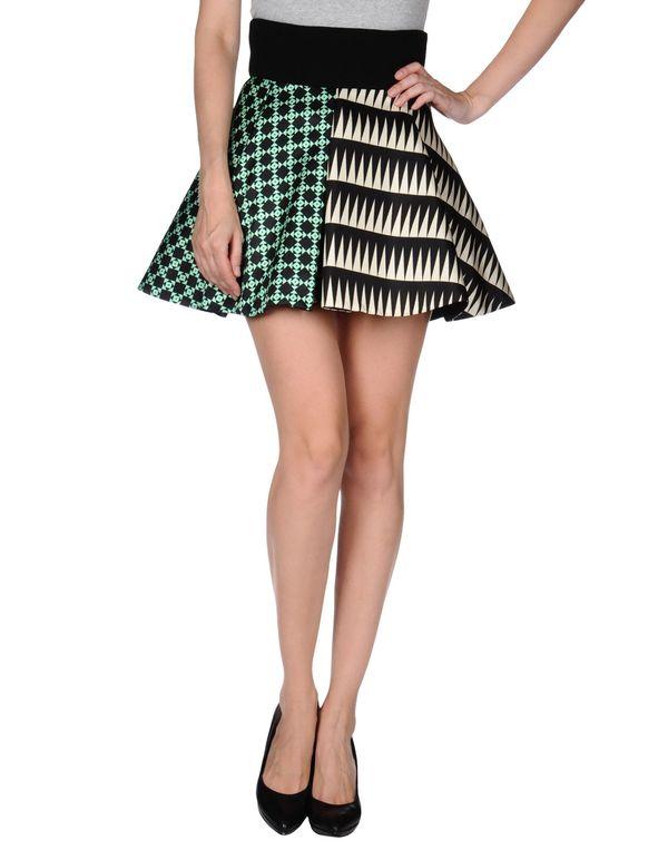 黑色 FAUSTO PUGLISI 超短裙