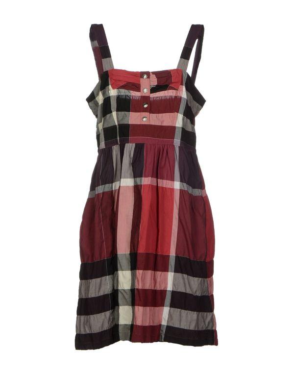 砖红 BURBERRY BRIT 短款连衣裙