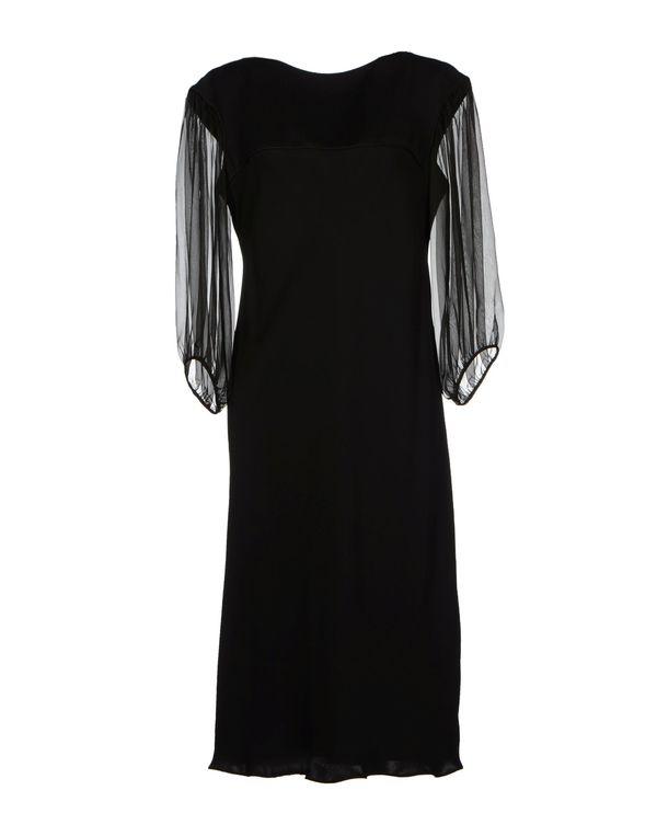 黑色 GIORGIO ARMANI 中长款连衣裙