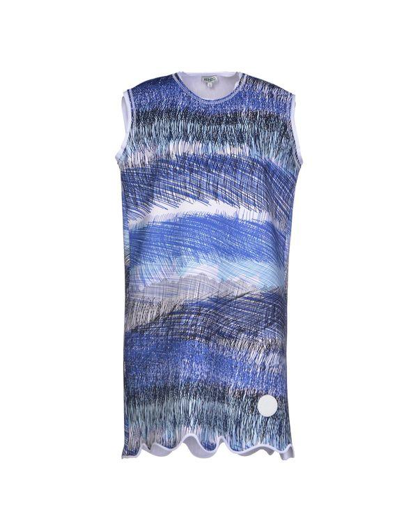 蓝色 KENZO 短款连衣裙