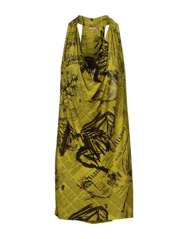 浅绿色 GALLIANO 短款连衣裙