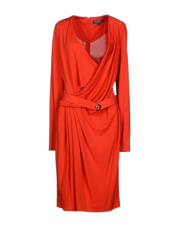 红色 SALVATORE FERRAGAMO 及膝连衣裙