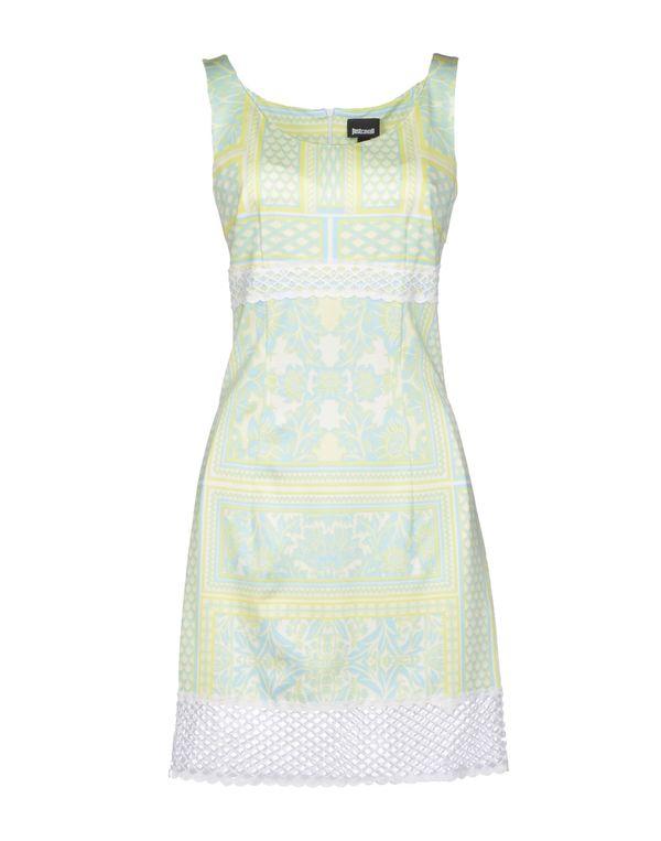 荧光绿 JUST CAVALLI 短款连衣裙