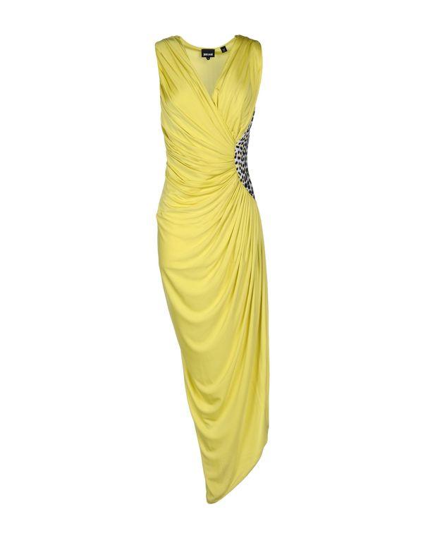 黄色 JUST CAVALLI 长款连衣裙