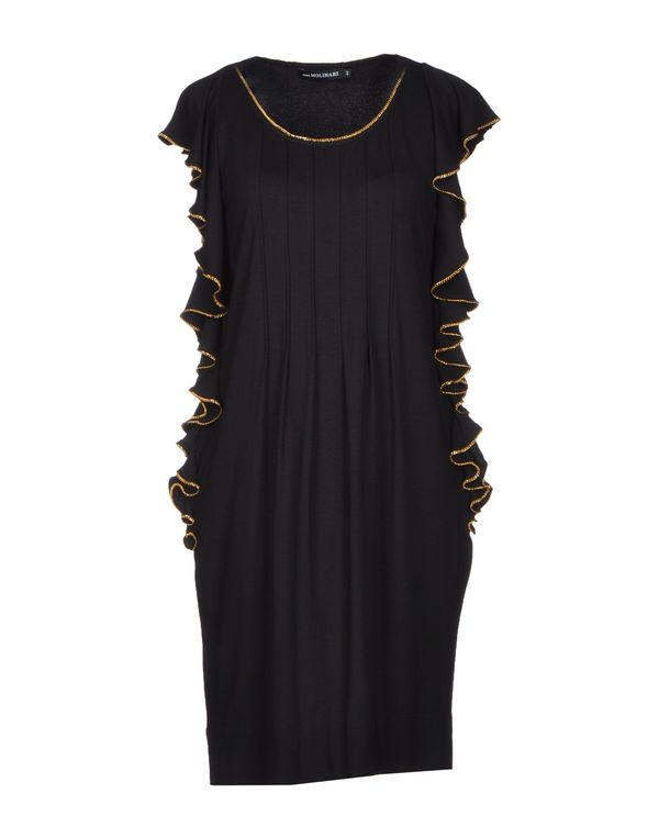 黑色 ANNA MOLINARI 短款连衣裙