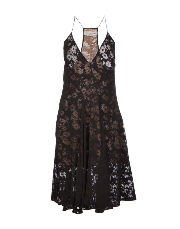 黑色 STELLA MCCARTNEY 及膝连衣裙