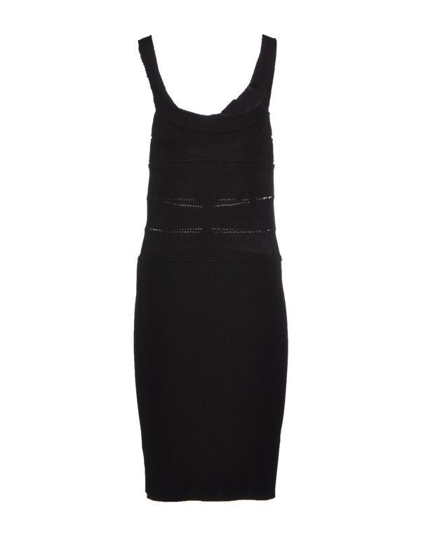 黑色 BLUMARINE 及膝连衣裙
