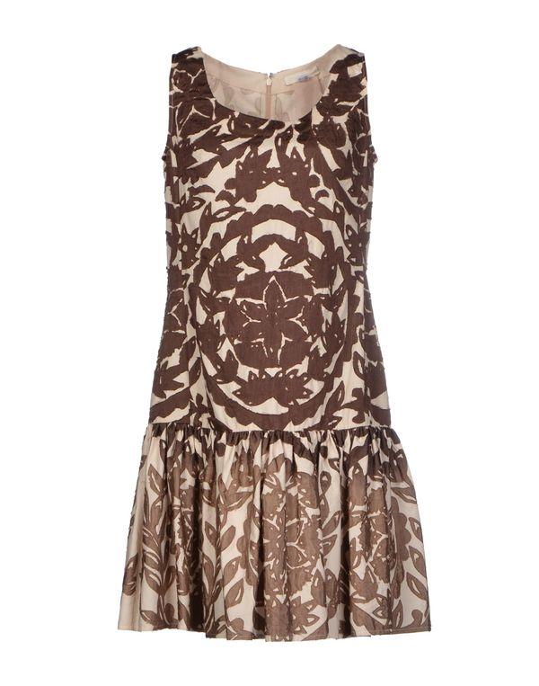 巧克力色 SCERVINO STREET 短款连衣裙