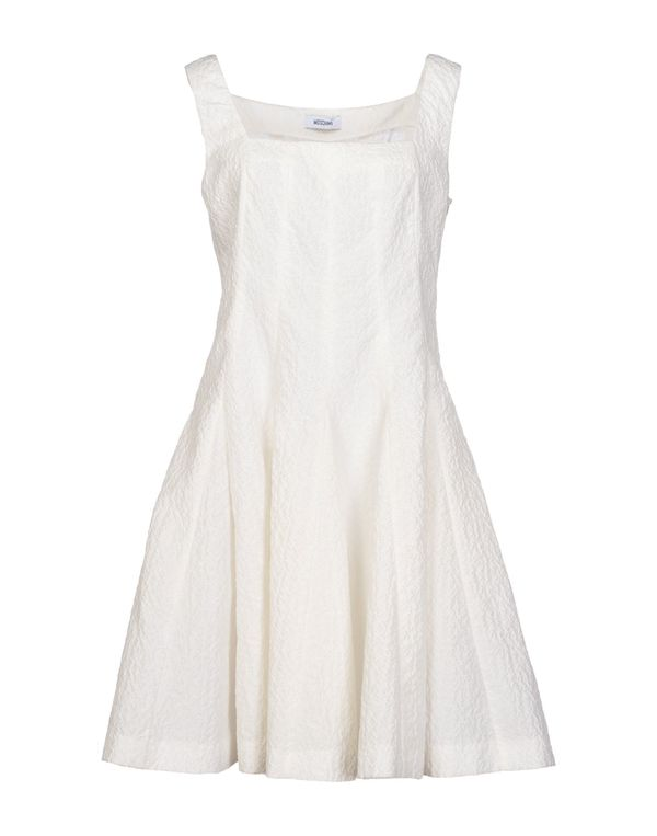白色 MOSCHINO 短款连衣裙