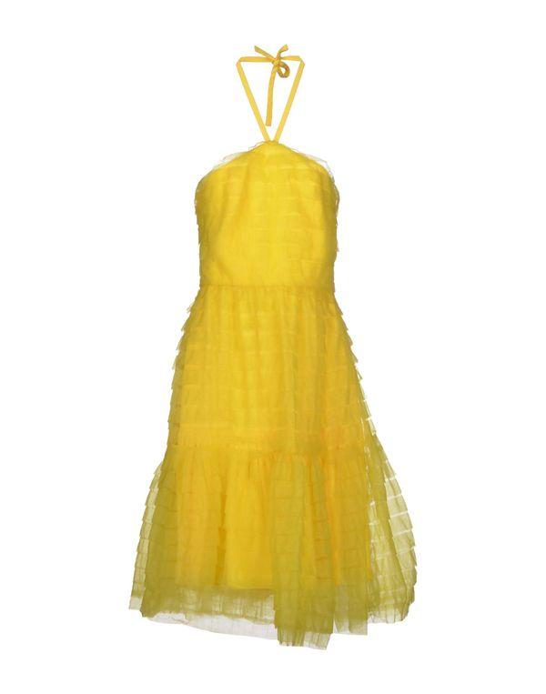 黄色 BLUGIRL BLUMARINE 及膝连衣裙