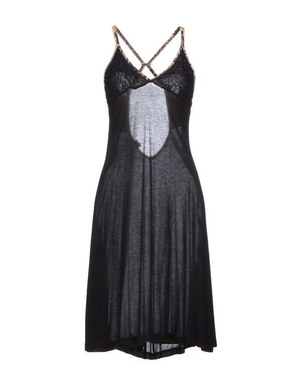 黑色 JUST CAVALLI 及膝连衣裙