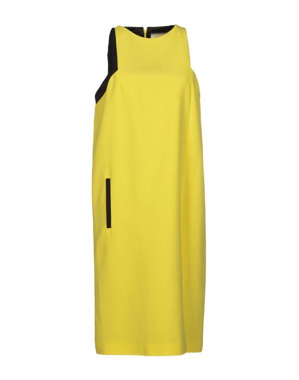 黄色 FAUSTO PUGLISI 及膝连衣裙