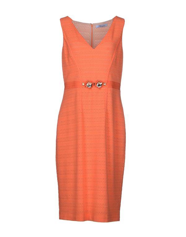 橙色 BLUMARINE 及膝连衣裙