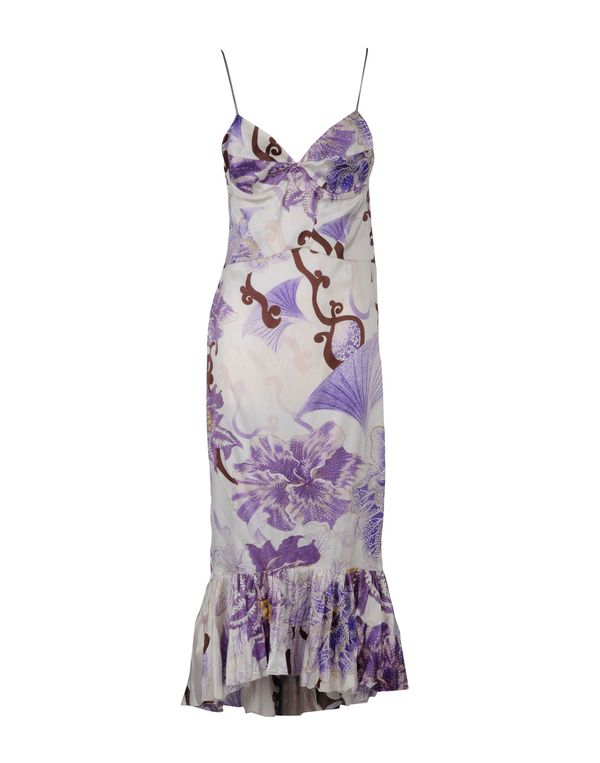 丁香紫 JUST CAVALLI 中长款连衣裙