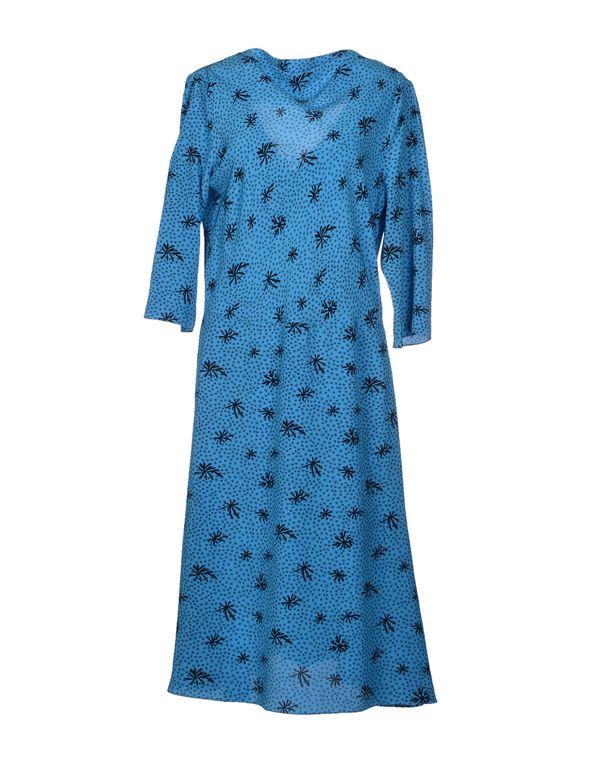 中蓝 MARNI 及膝连衣裙