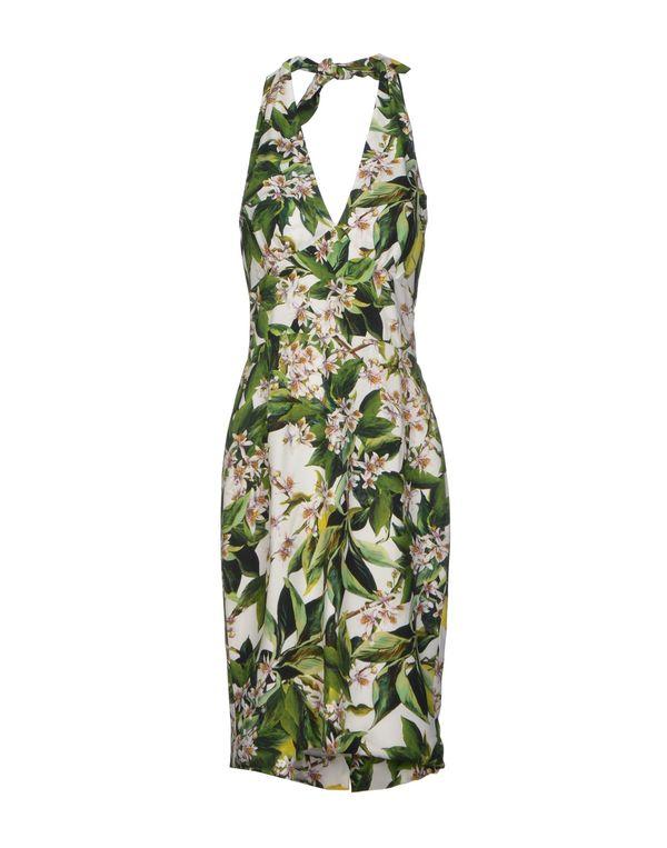绿色 DOLCE & GABBANA 及膝连衣裙