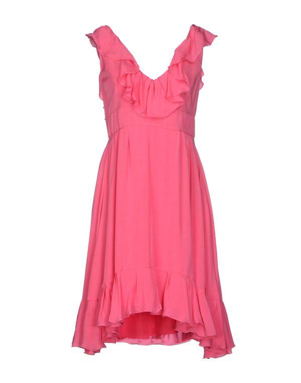 粉红色 REDVALENTINO 及膝连衣裙