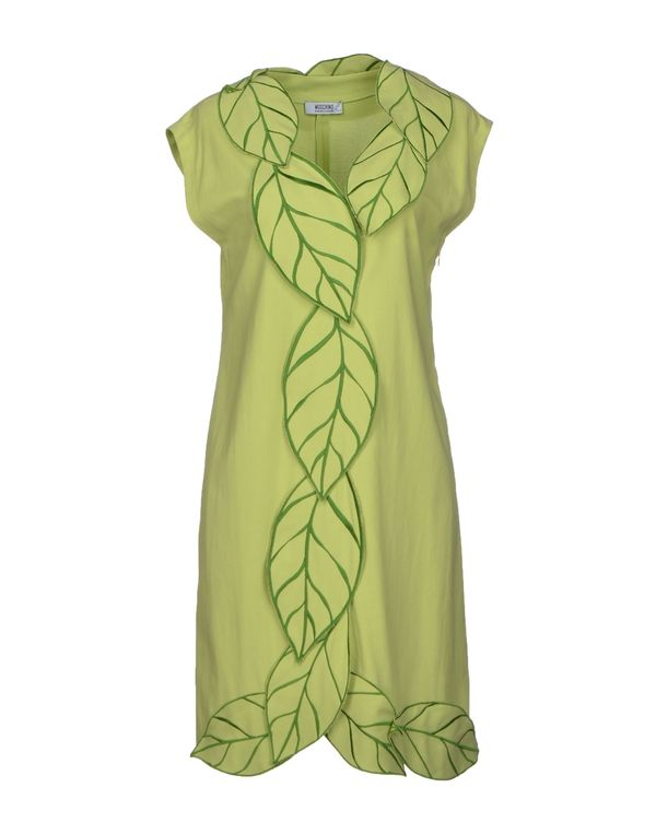 浅绿色 MOSCHINO CHEAPANDCHIC 短款连衣裙
