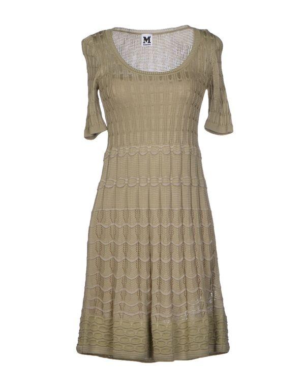 灰色 M MISSONI 短款连衣裙